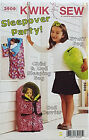 "KWIK SEW PATTERN SLEEPING BAG LINED 4 CHILD & 18"" DOLL + DOLL CARRIER & STUF BAG"