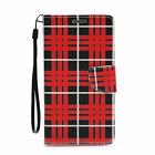 Leather Wallet Card Holder Flip Case Cover For Samsung Galaxy S6 EDGE PLUS Plaid