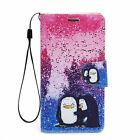 For Samsung Galaxy S6 Edge + Plus PU Leather Flip Card Wallet Case Cover Penguin
