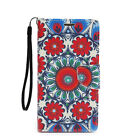 For Samsung Galaxy S6 Edge + Plus PU Leather Flip Card Wallet Case Cover Mandala