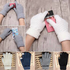 Cute Fashion Gloves Women Girls Full Finger Knit Mittens Winter Warm Gloves