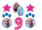 Disney FROZEN movie Princess Anna and Elsa  Number  9 Birthday Decoration Kit