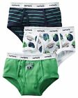 Carter's  Boys' 3-Pack Cotton Briefs  MSRP$12.00   Size 2--8
