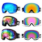 Ski Goggles Double Anti Fog Lenses 400 UV Windproof For men women kids Skiing