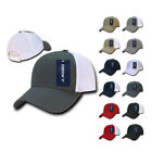 DECKY 6 Panel Low Crown Air Mesh Pre Curved Bill Baseball Trucker Cap Hat Hats
