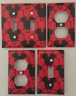 Внешний вид - MICKEY MOUSE LIGHT SWITCH COVER PLATES EARS DISNEY RED BLACK OUTLETS KID DECOR