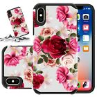 For Apple Iphone 8 Plus / Iphone 7 Plus Case Hard & Soft Rubber Kickstand Cover