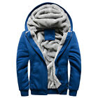 Winter Warm Thick Faux Fur Lined Long Sleeve Casual Wear Hoodie Sweats For Men