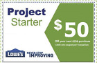 FIVE (5x) Lowes $15 OFF $50 Printable-Coupons -exp 1 28 2017 - Instant Delivery!