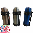 2 L THERMOS FLASK STAINLESS STEEL HOT COLD TRAVEL DRINKS SOUP TEA COFFEE