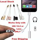 2 in 1 Lightning 3.5mm Headphones Adapter Audio + USB Cable for iPhone 7 7 Plus