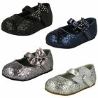 Spot On Girls Glittery Party Shoes - Style 305