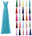 Long Chiffon Cap Sleeve Formal Prom Dresses Party Bridesmaid Evening Gowns 6-22