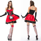 Christmas Red Costume Adult Cosplay Little Red Riding Hood Fancy Dress GIFT HOT