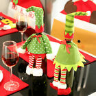 HOT ChristmasGift Elf Wine Bottle Bags Cover Dinner  Xmas Dot Party Table Decor