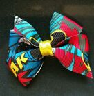 Batman multicolor layered grosgrain boutique hair bow 2 inch