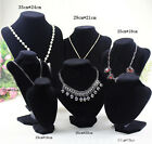 Image of Velvet Necklace Pendant Chain Jewelry Bust Display Holder Stand Brand abus