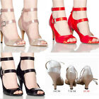 Women Satin Prom Tango Ballroom Latin Salsa Dance Top Trendy Heel Shoes US5.5-9