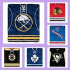 NHL Licensed Plush Jersey Raschel Afghan Throw Blanket - Choose Your Team