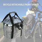 Bicycle Detachable Cycle Front Canvas Basket Carrier Bag Pet Carrier Frame