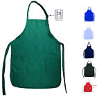 3 Pack Full Adult Size Bib Aprons 2 Waist Pockets Solid Kitchen Garden Wholesale