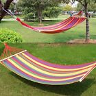 Heavy Duty Single Size Hammock Quilted Fabric Pillow Spreader Bar Outdoor