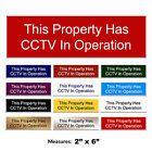 CCTV In Operation Sign Engraved CCTV Gate Company Sign + FREE CHOICE OF COLOURS