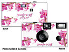 20 Spring Orchid Disposable Cameras-PERSONALIZE-wedding camera/anniversary/party