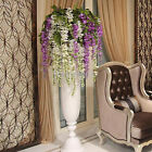 ARTIFICIAL WISTERIA FLOWERS VINE SILK FLOWER WEDDING PARTY HANGING DECOR GROOVY