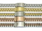 Stainless Steel & Gold Plated Watch Bracelets 18-20mm Straight & Curved Ends