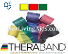 GENUINE THERABAND - 3 Pack [Yellow-Red-Green], RESISTANCE BANDS, PHYSIO, YOGA