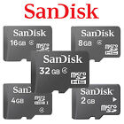 SanDisk 2G 4GB 8GB 16GB 32GB MicroSD SD SDHC Class 4 Flash Memory Card TF W/A