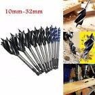 Four Slot Four Blade Woodworking Auger Drill Bit 10mm-32mm Hex Shank Bore Hole T