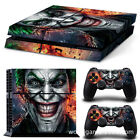 Fashion Cool Clown Vinly Skin Sticker PS4 Play Station 4 & 2 Controller Skins