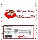20 Personalized VALENTINE'S DAY Full-Size Hershey Candy Wrappers Pre-Cut w/Foil