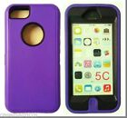 3in1 Hybrid Rugged TPU+PC Case Cover+Built-in Screen Protector For iPhone 5C