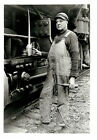 "1928  8""x10"" B/W Photo Southern Pacific Railroad Engineer w/Oil Can Tillamook OR"