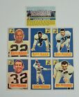 1956 Topps lot 7 Cleveland Browns Renfro McCormick Konz Team card EX to NRMINT