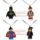 Hot 20pcs Super Hero Cute Pendant Rope Chain Chokers Necklaces Jerewly Kid Gift
