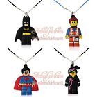 Hot 100pcs Super Hero Cute Pendant Rope Chain Chokers Necklaces Jerewly Kid Gift