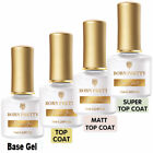 No wipe Top Coat Base Coat Gel BORN PRETTY Soak Off UV Gel Nail Polish 6/10ml