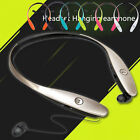For iPhone Android Bluetooth Headset Neckband Headphone with Retractable Earbud