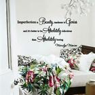 Wall Decal Marilyn Monroe Imperfection Is Beauty Wall Decor Quote Vinyl
