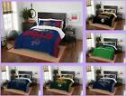 NFL Licensed 3 Piece Full Queen Comforter & Sham Bed Set In A Bag - Choose Team