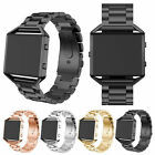 US Genuine Stainless Steel Strap Watch Band + Frame For Fitbit Blaze Smart Watch image