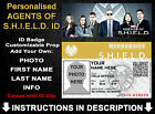 Avengers Agents of S.H.I.E.L.D Shield ID Badge Personalised Cosplay  Christmas