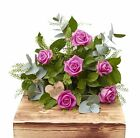 The Flower Rooms - Half Dozen Pink Passion Roses Birthday Flowers Congratulation