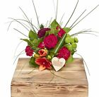 The Flower Rooms - Mini Warm Reds Hand Tied Birthday Flowers Congratulations