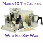 LARGE TIN LUXURY Candle Making Kit - Makes 10 Tin Candles - | FREE UK DELIVERY
