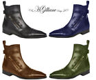 Men's Shoes Boots Leather model BRUNO by HGilliane Design Us size 2 to 12.5